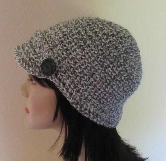 Women's Newsboy Hat Women's Crochet Hat, Brimmed Beanie Hat, Fall Accessories