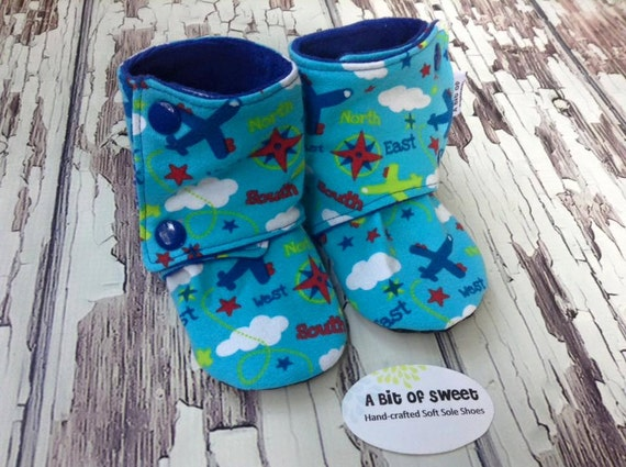 Take-Off Soft Sole Boots size 6-12m