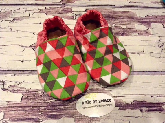 Sorbet Triangles Soft Sole Shoes Size 2t