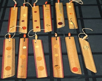 CUSTOM ORDER for Kris Guthrie, BOOKMARKS, Wooden Bookmark, Paul Szewc, Masterpiece Gallery