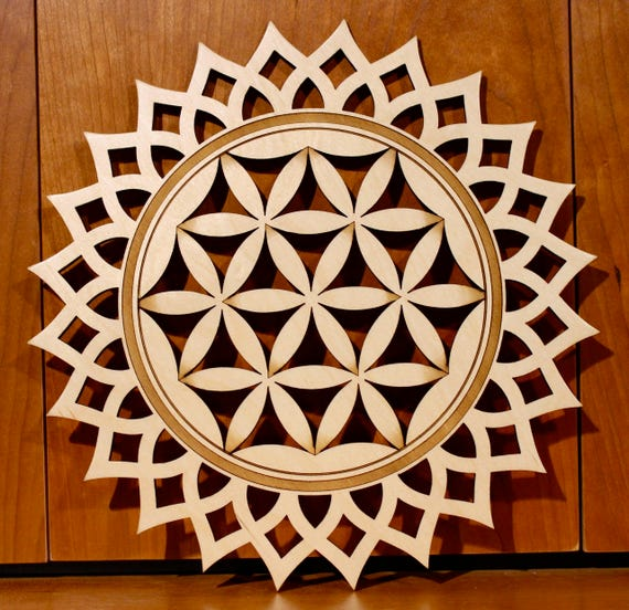 Flower of Life Wall Art, Warm Pot Trivet, Pattern T39, Flower, Laser Engraved, Paul Szewc, Masterpiece Laser