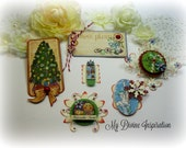 Graphic 45  Nutcracker Sweet Christmas Paper Ornaments and Paper Embellishments Tags for Scrapbook Layouts Cards Mini Albums Paper Crafts