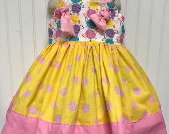 Spring Easter Girls Dress sizes 2t thru 6 Pink
