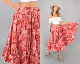 60's Bandana Western Skirt
