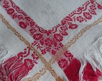 Beautiful set of 11 antique French table napkins LINEN DAMASK c1890 Trousseau armoire find