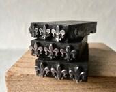 Vintage Letterpress Fleur de Lis Border Type for Printing Stamping and Decor