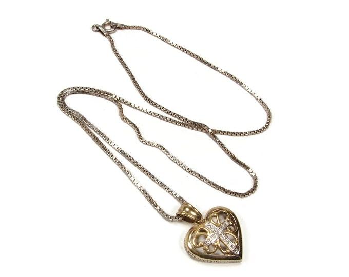 Sterling Silver Danbury Mint The Lord's Prayer Heart Pendant