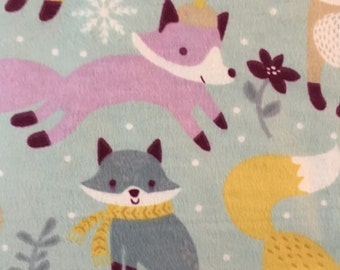 Winter Foxes   - Flannel Fabric - BTY