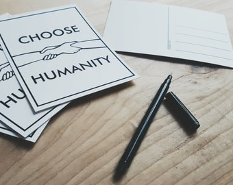 Choose Humanity Postcards - Set of 4 - Write Your Representative and Support SPLC