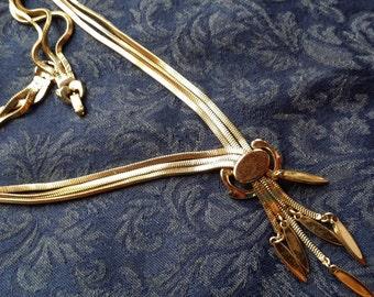 CHIC Goldtone Multi-Strand Necklace by Monet VINTAGE