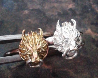 Cloud Wolf Ring Sterling Silver - Cosplay Fantasy Sterling Silver Ring - Sterling Silver Wolf Ring - Fenrir Ring - Werewolf Silver Ring 925