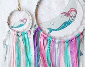 RESERVED FOR Katie W - Sleeping Mermaid Large & Small Dream Catcher Set, Nursery Decor, additional accents, custom order