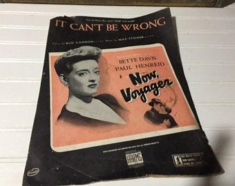 New voyager sheet music bette davis