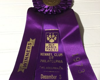 American kennel club purple ribbon winners philadelphia 1973