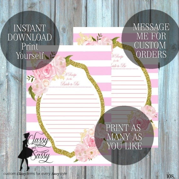 Bridal Shower Recipe Card-108