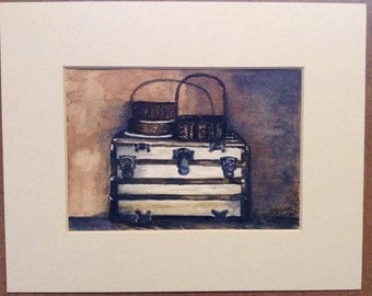 Chest of Yesterdays - Original Watercolor Painting