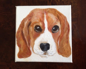 Beagle Lovers.  A must have portrait of your best friend.
