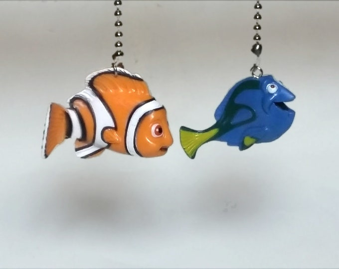 Finding Nemo Finding Dory Ceiling Fan Pull Set, Kids Room Decor, Nursery Decor, Gift for Boys, Gift for Girls, Christmas Gift, Disney Decor