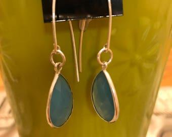 Aqua marine earring