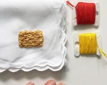 Funny Embroidery by wrenbirdarts Tater Tot Food Art Funny Handkerchiefs