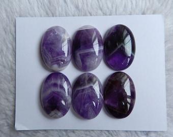 High quality 1 set Amethyst Gemstone Cabochons Semi Gemstone Jewelry Gift Gem Customized ,30x20x8mm,38.6g
