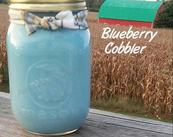 Blueberry Cobbler Soy Candle in 16 oz Jar