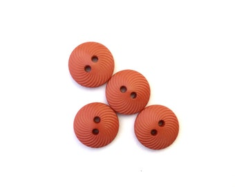4 Rust Orange Fancy Buttons