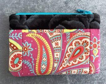Wallet Coin Purse Card Carrier Hot Pink Sari