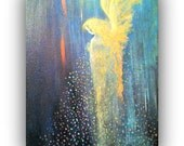 Angel Blessings - Original Painted on an 16 X 20 Stretched Canvas by Alma Yamazaki