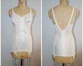 Vintage Girdle / White Shapewear / Vintage Lingerie / Pinup Lingerie / 40C