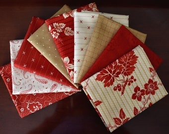 Crazy For Reds Fat Quarter Bundle of 9 by Minick & Simpson for Moda - LAST ONE