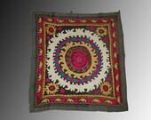 Uzbek Tadjik  vintage handmade embroidery Leninabad suzani