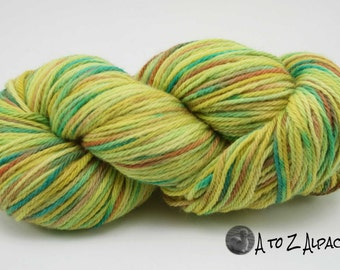 Hand Dyed Royal Baby Alpaca Yarn Bulky Weight Summer Carnival