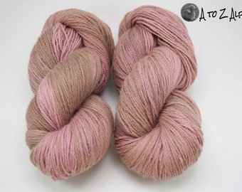 Hand Dyed Royal Baby Alpaca Yarn Worsted Weight - Someone Ate the Vanilla part of the Neapolitan Ice Cream!
