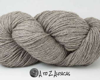 SUPER-SIZED SKEIN! Royal Baby Alpaca Yarn Bulky Weight Natural Light Gray 200 grams