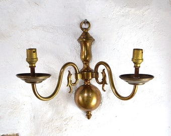 Vintage French wall light sconce double Classic design