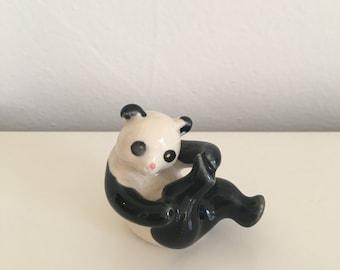 Panda Animal Figurine Vintage Knick Knack Home Decor
