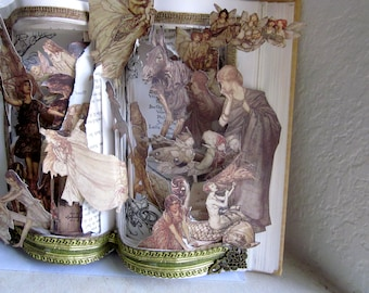 Altered book Pop up style Shakespeare's A Midsummer Night's Dream: William Shakespeare  With Illustrations by Arthur Rackham.