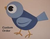 Custom order for Maricris Garcia 120 Bodysuits in mid blue with white Motifs Embellishments Die Cuts