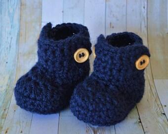 Baby Booties, Crochet Baby Booties, Baby Boots -Baby Ugg Boots