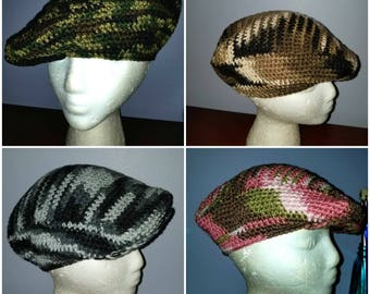Camo newsboy hat - ready to ship pick one or all four