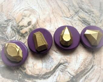 Diamond shape  flexible silicone molds ( set of 4)