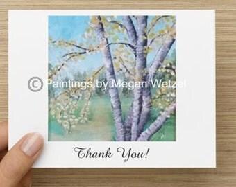 Spring Birch 5.5x4 Thank You Cards