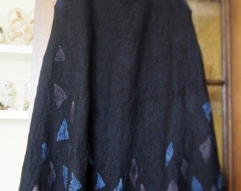 Long skirt hand made - felted for you - choose you favourite colors