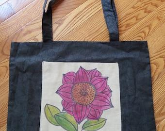 Violet Flower Bag