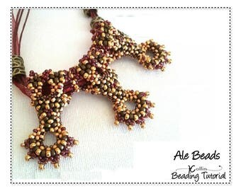 Curved CRAW Beading Pattern, Shaped Slider Spacer Beads, Beaded Elements Beading Instructions, Tutorial Seed Bead Jewelry Tutorial ALE BEADS