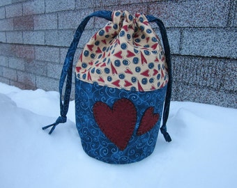 Knitting project bag, crochet bag
