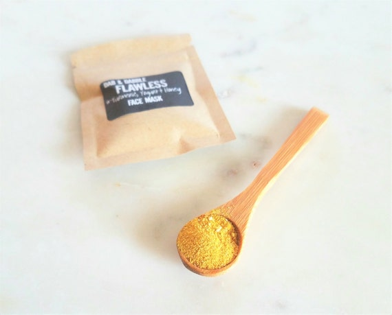 Turmeric Mask Sample | Natural Facial Cleanser and Face Scrub | Skin Brightening | Face Mask For Acne  | Exfoliating Turmeric  Mask