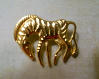 Zebra Gold Brooch Pin ~ Beautiful Brooch for all Zebra Lovers ~ Perfect for Mother's Day