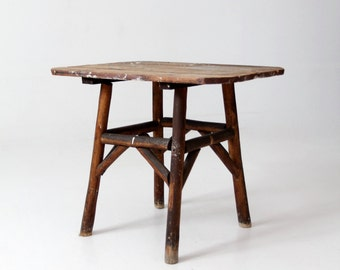 antique farmhouse table, small rustic end table